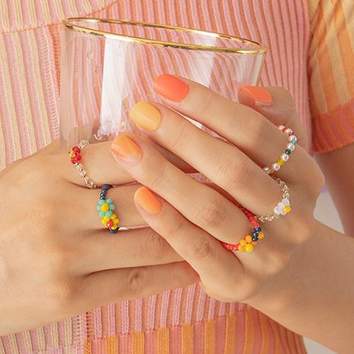 (3set)Summer&joy beads ring