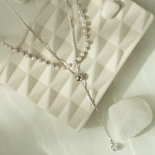(2set)Pearl&Long Necklace